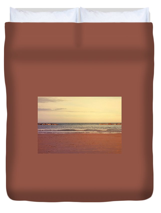 Italy Duvet Cover featuring the photograph At The Beach by Andrea Mazzocchetti