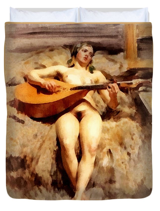 Atelje Idyll Duvet Cover featuring the digital art Atelje Idyll by Anders Zorn