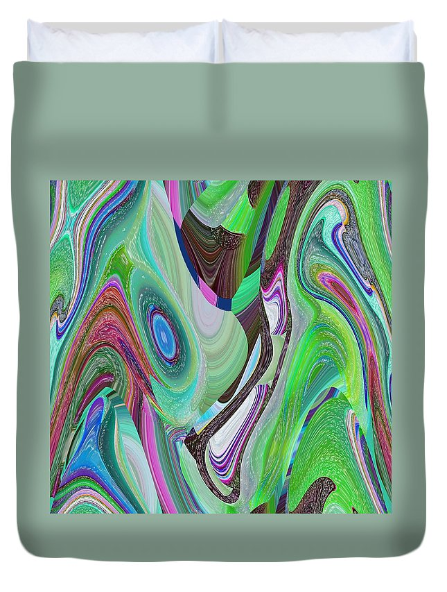 Abstract Duvet Cover featuring the digital art Atelophobia by John Holfinger