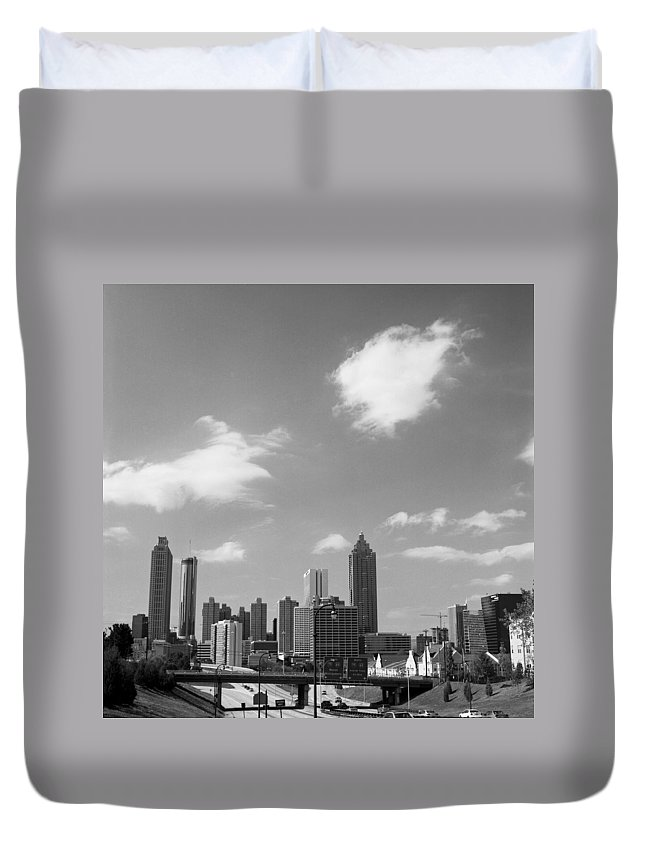 Atlanta Duvet Cover featuring the photograph ATL by Carla P White