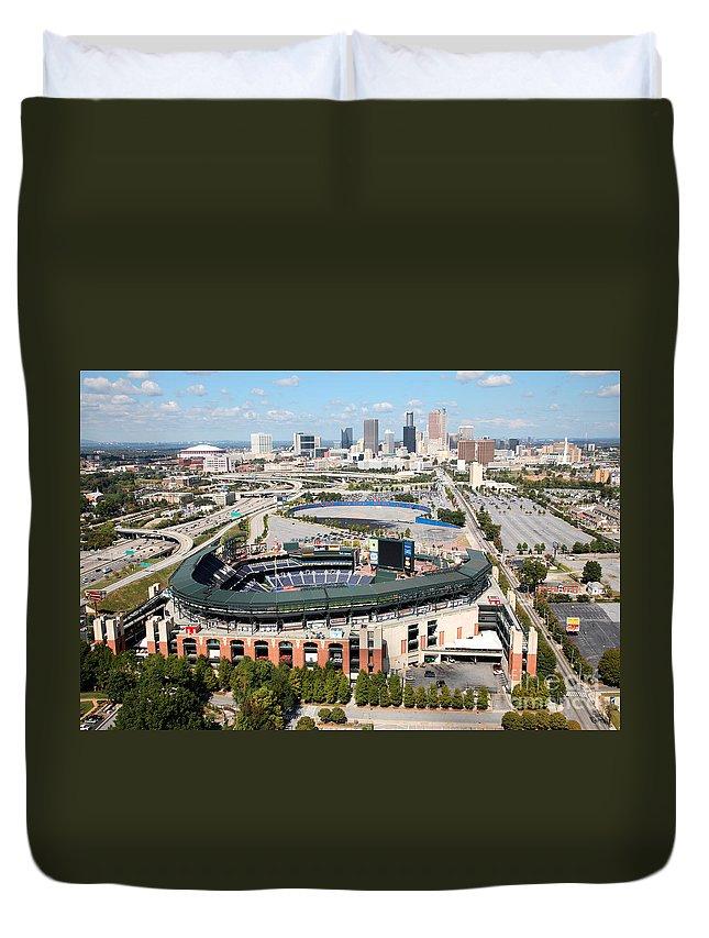 Aerial Duvet Cover featuring the photograph Atlanta by Bill Cobb