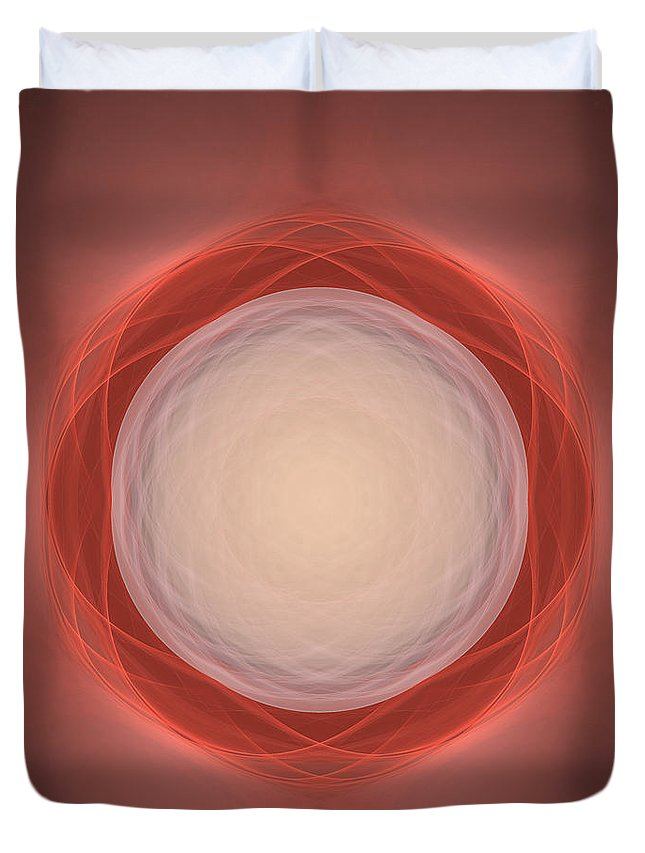 Atom Duvet Cover featuring the digital art Atome-03 by RochVanh