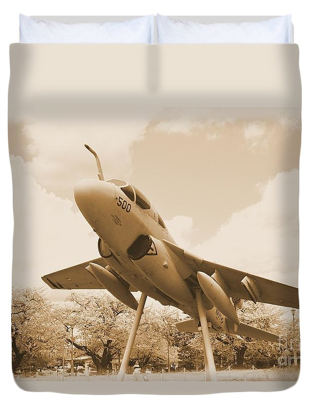 Atsugi Duvet Cover featuring the photograph Atsugi Prowler E by Jay Mann