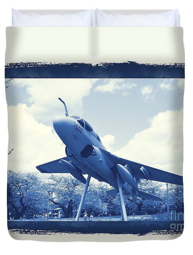 Atsugi Duvet Cover featuring the photograph Atsugi Prowler G by Jay Mann