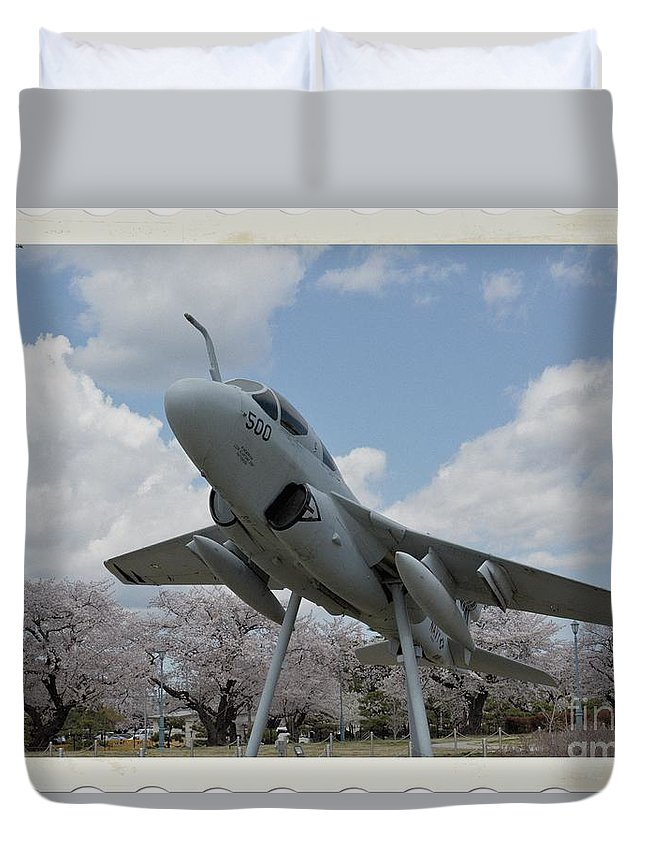Atsugi Duvet Cover featuring the photograph Atsugi Prowler K by Jay Mann