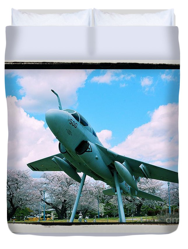 Atsugi Duvet Cover featuring the photograph Atsugi Prowler M by Jay Mann