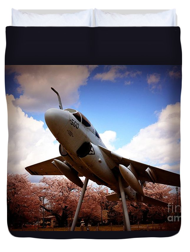 Atsugi Duvet Cover featuring the photograph Atsugi Prowler R by Jay Mann