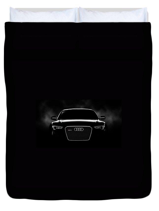 Audi Duvet Cover featuring the digital art Audi Rs5 by Douglas Pittman