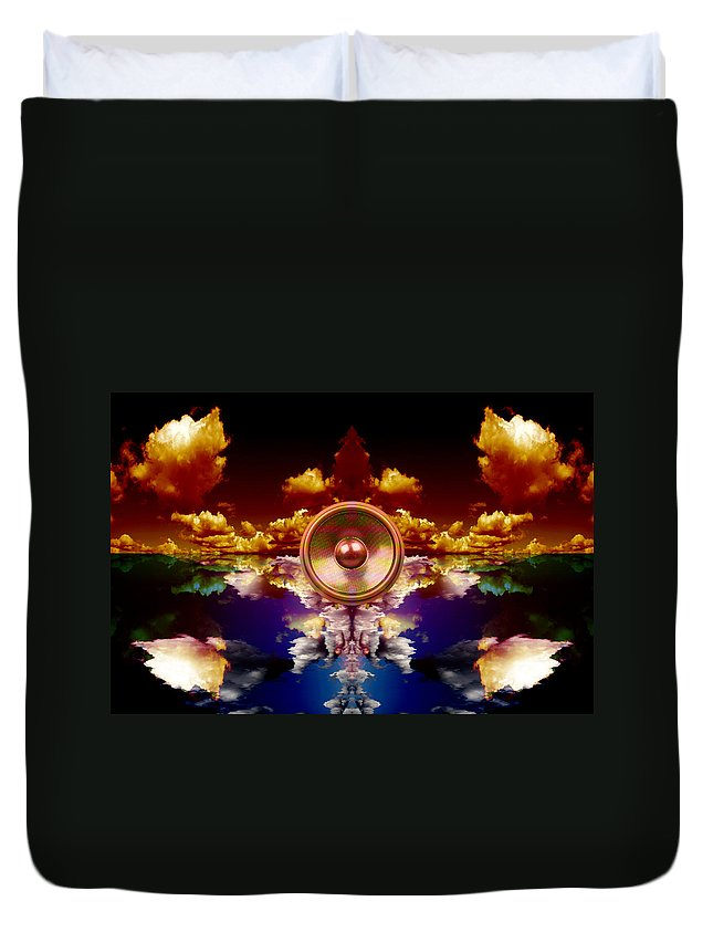 Background Duvet Cover featuring the digital art Audio Reflect 1 by Steve Ball