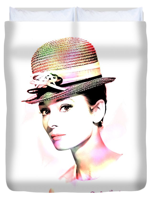 Hepburn Duvet Cover featuring the photograph Audrey Hepburn 6 by Andrew Fare
