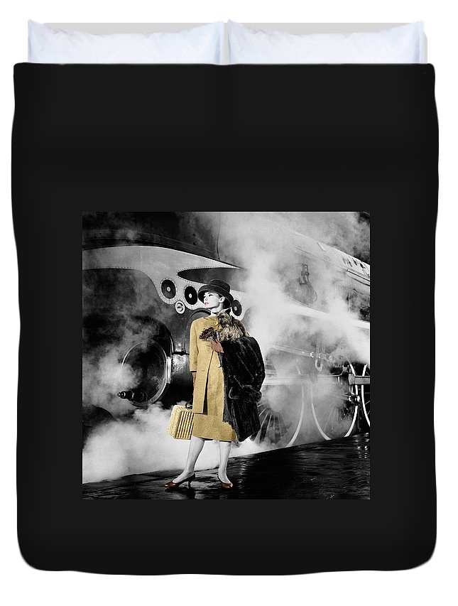 Audrey Hepburn Duvet Cover featuring the photograph Audrey Hepburn 7 by Andrew Fare