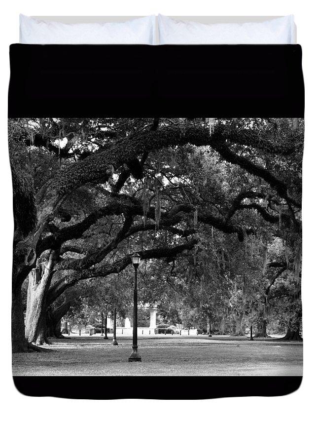 Audubon Park Duvet Cover featuring the photograph Audubon Park Oaks by Susie Hoffpauir