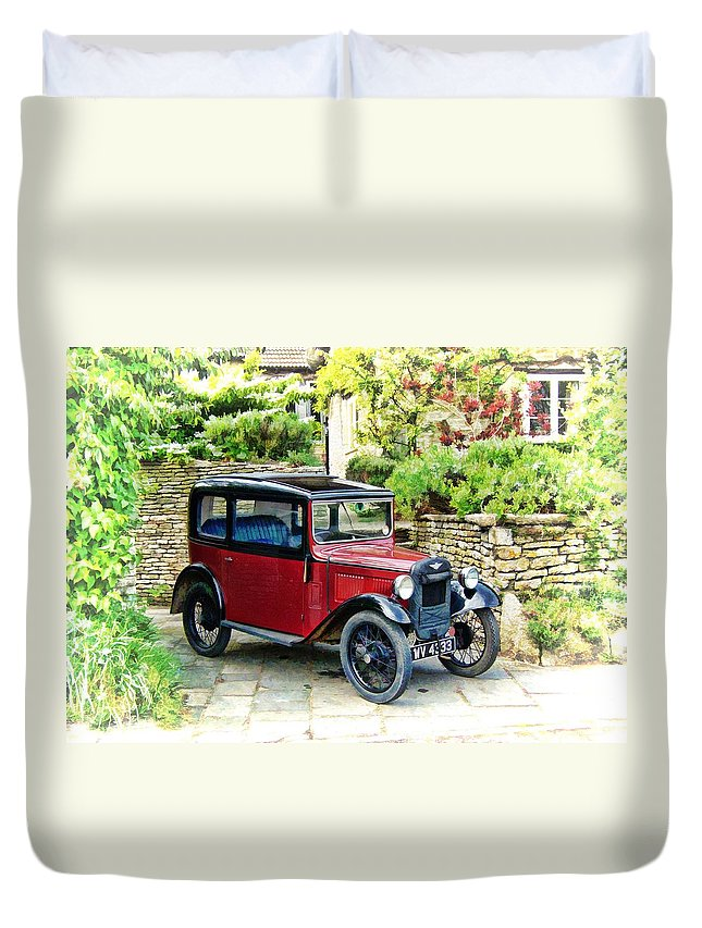 Wiltshire Duvet Cover featuring the photograph Austin Seven by Paul Gulliver