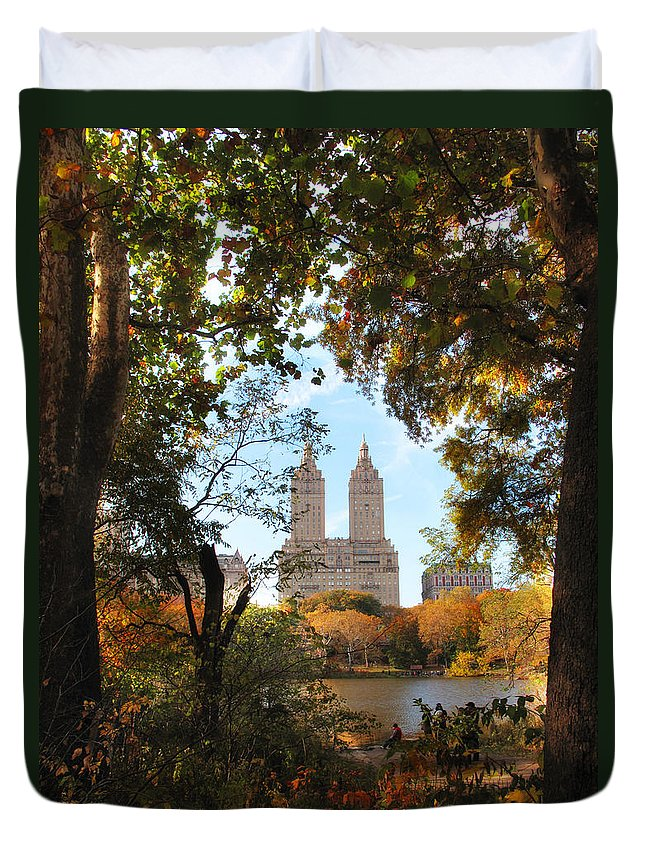 Autumn Duvet Cover featuring the photograph Autumn At San Remo by Jessica Jenney