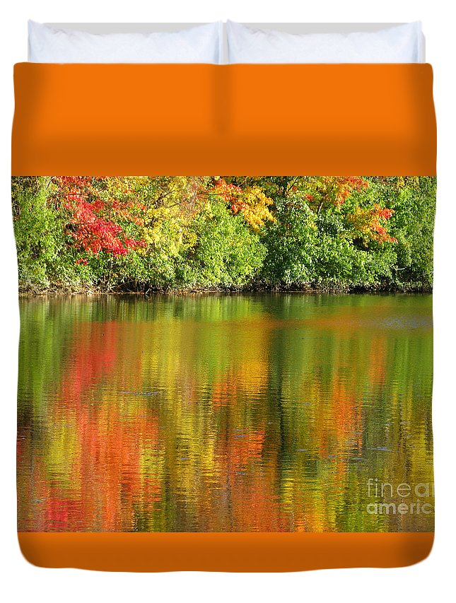 Autumn Duvet Cover featuring the photograph Autumn Brilliance by Ann Horn