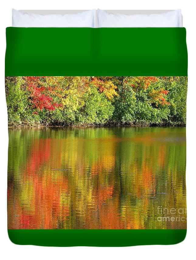 Autumn Duvet Cover featuring the photograph Autumn Brilliance by Ann Horn