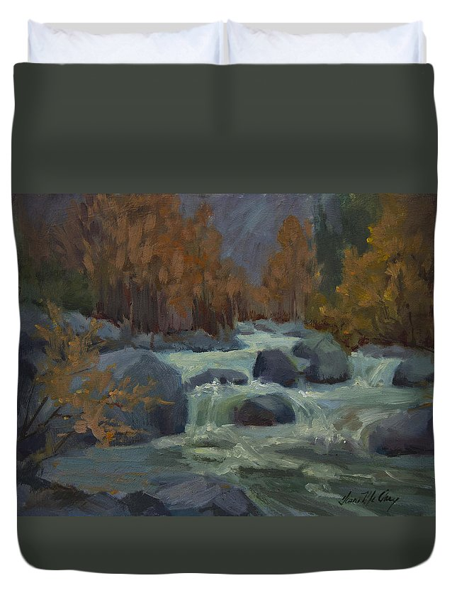 Autumn Color Duvet Cover featuring the painting Autumn Color Blewitt Pass by Diane McClary