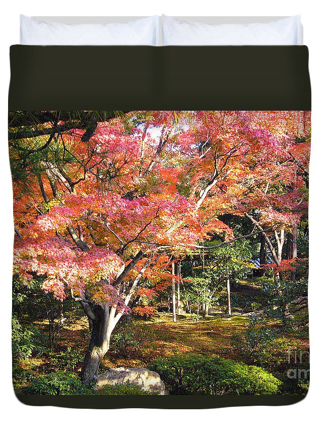 Kyoto Duvet Cover featuring the photograph Autumn Colors by To-Tam Gerwe