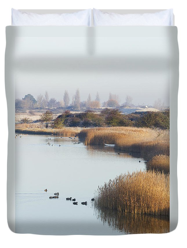 Autumn Duvet Cover featuring the photograph Autumn Fall by Chris Smith