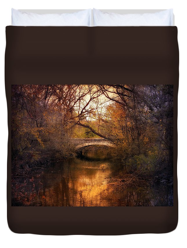 Autumn Duvet Cover featuring the photograph Autumn Finale by Jessica Jenney