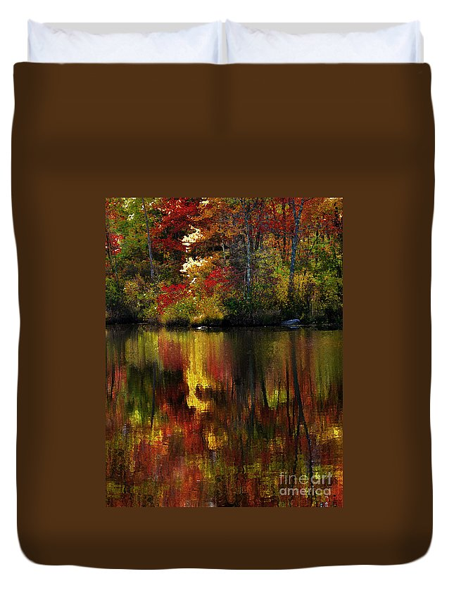 Autumn Duvet Cover featuring the photograph Autumn Fire by Mike Nellums