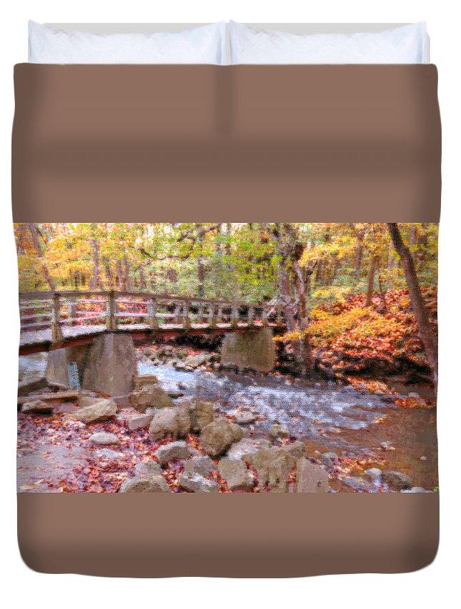 Autumn Duvet Cover featuring the photograph Autumn Glory by Kay Novy