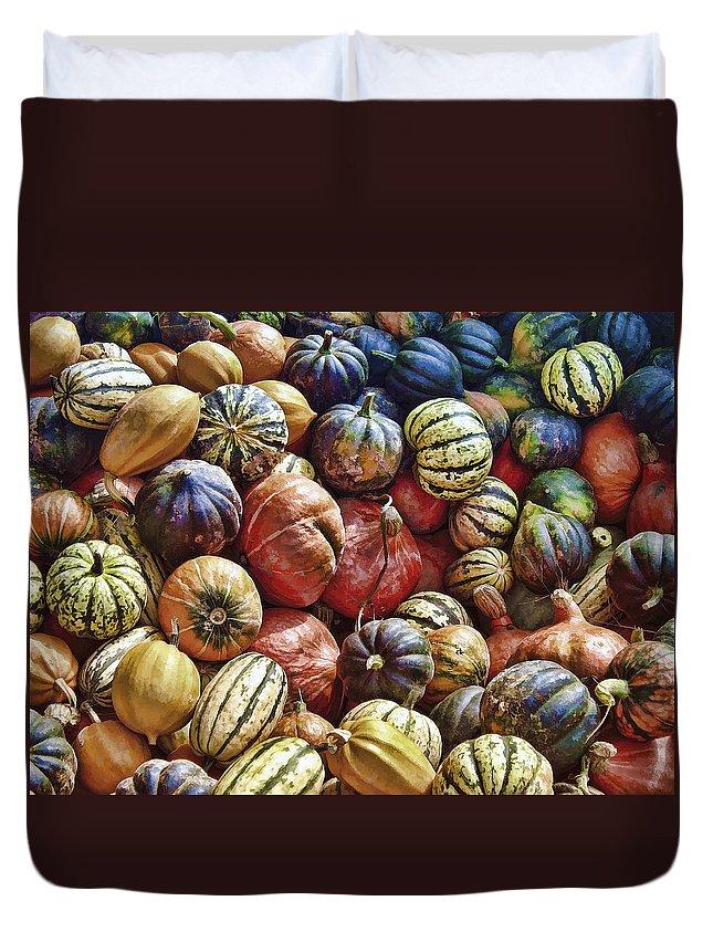 Squash Duvet Cover featuring the photograph Autumn Harvest by Daniel Hagerman