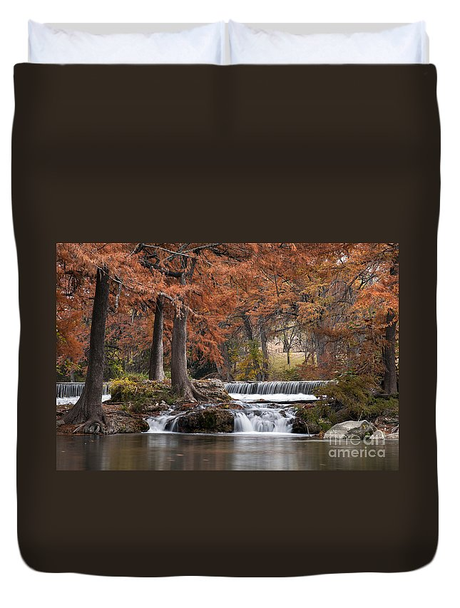 Hunt Duvet Cover featuring the photograph Autumn Idyll by Bob Phillips