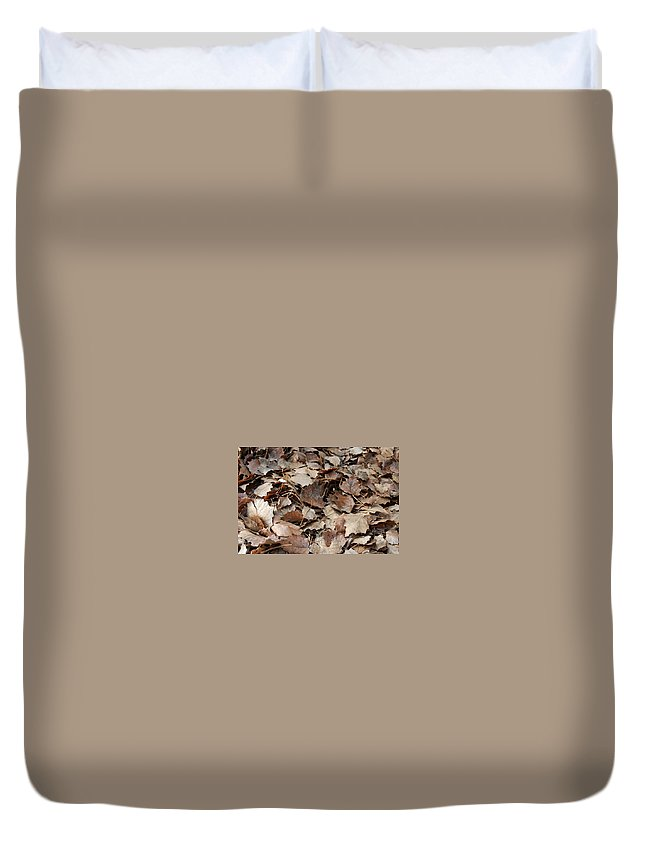 Autumn Duvet Cover featuring the photograph Autumn Leaves by Gina Dsgn