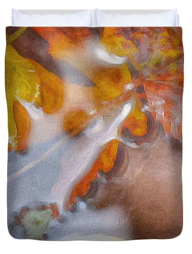 Nature Duvet Cover featuring the photograph Autumn Leaves by Suave Vision