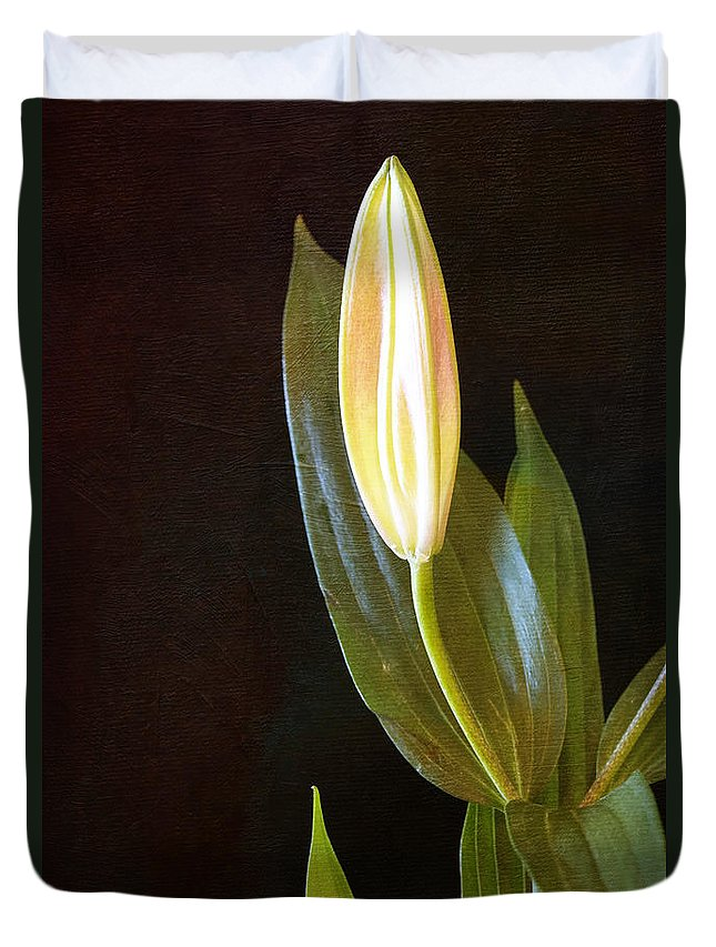Botanicals Duvet Cover featuring the photograph Autumn Lily by Linda Dunn