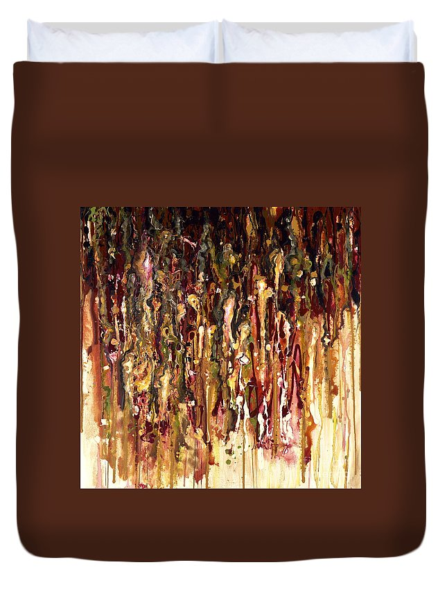 Rain Duvet Cover featuring the painting Autumn Rains by Nadine Rippelmeyer