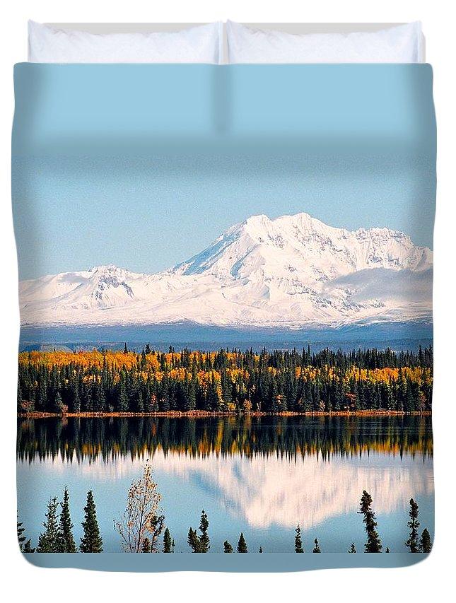Alaska Duvet Cover featuring the photograph Autumn View Of Mt. Drum - Alaska by Juergen Weiss