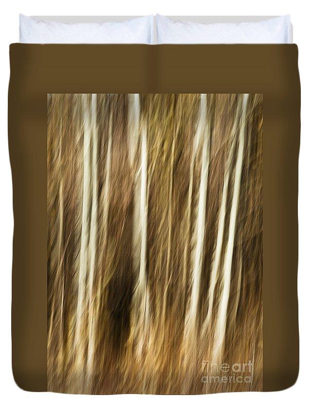 Art Duvet Cover featuring the photograph Autumn's Promise 4 by Joe Mamer
