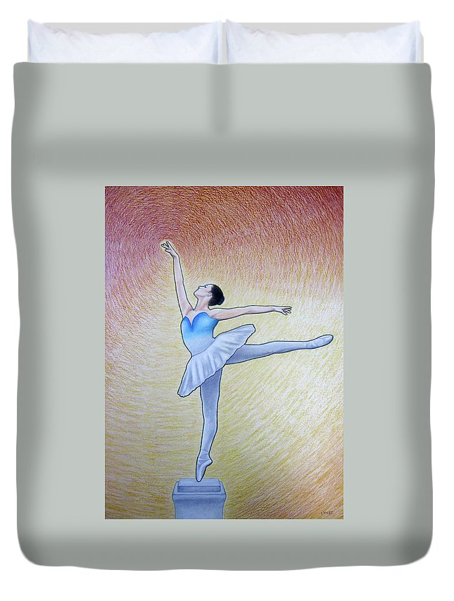 Awakening Duvet Cover featuring the painting Awakening by Lynet McDonald