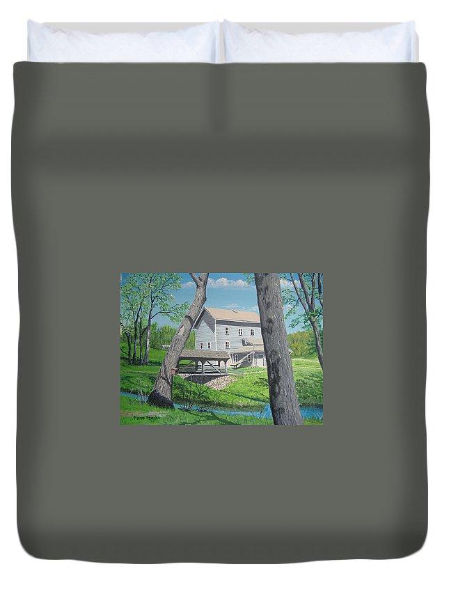 Award-winning Duvet Cover featuring the painting Award-winning Painting Of Beckman's Mill by Norm Starks