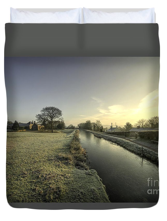 Ayshford Duvet Cover featuring the photograph Ayshford Winter by Rob Hawkins