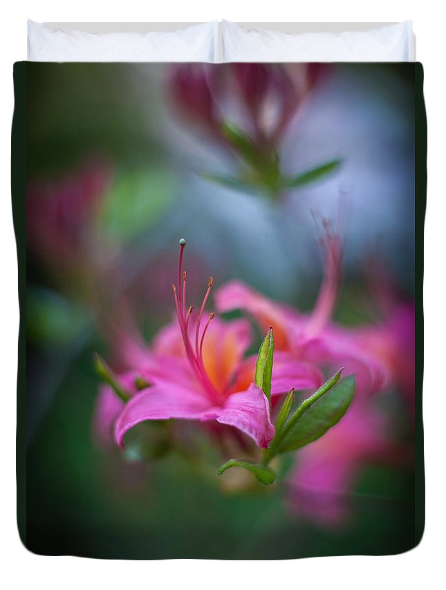 Flower Duvet Cover featuring the photograph Azalea Color Mystere by Mike Reid
