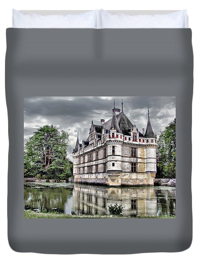 Azay-le-rideau Duvet Cover featuring the photograph Azay-le-rideau by Nikolyn McDonald