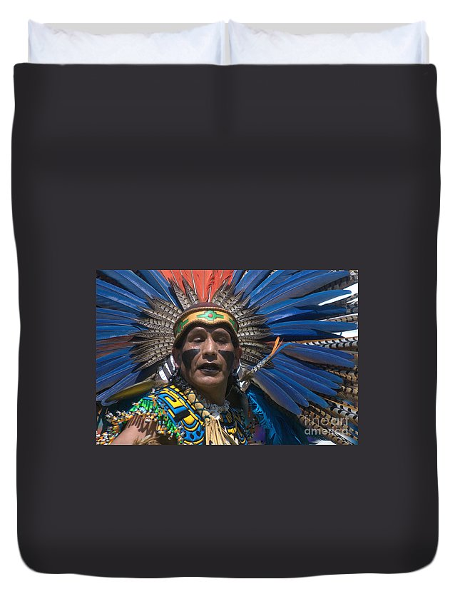 Aztec Duvet Cover featuring the photograph Aztec Dance by John Greco