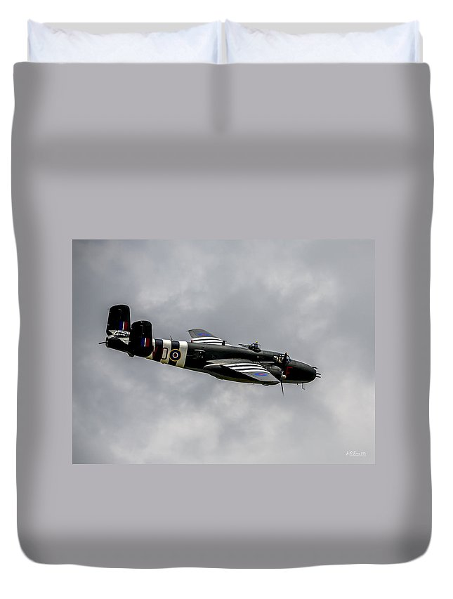 B25 Duvet Cover featuring the photograph B-25 Mitchell Mk IIi by Urbanmoon Photography