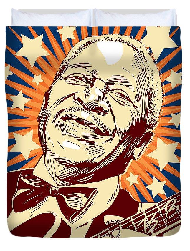 Blues Duvet Cover featuring the digital art B. B. King by Jim Zahniser