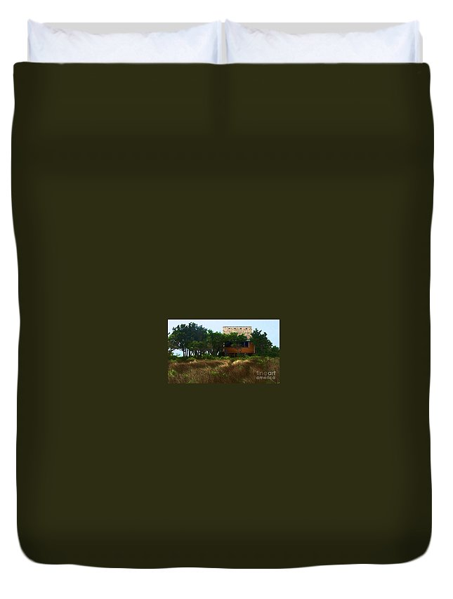 Beach Duvet Cover featuring the photograph Back To The Island by Debbi Granruth