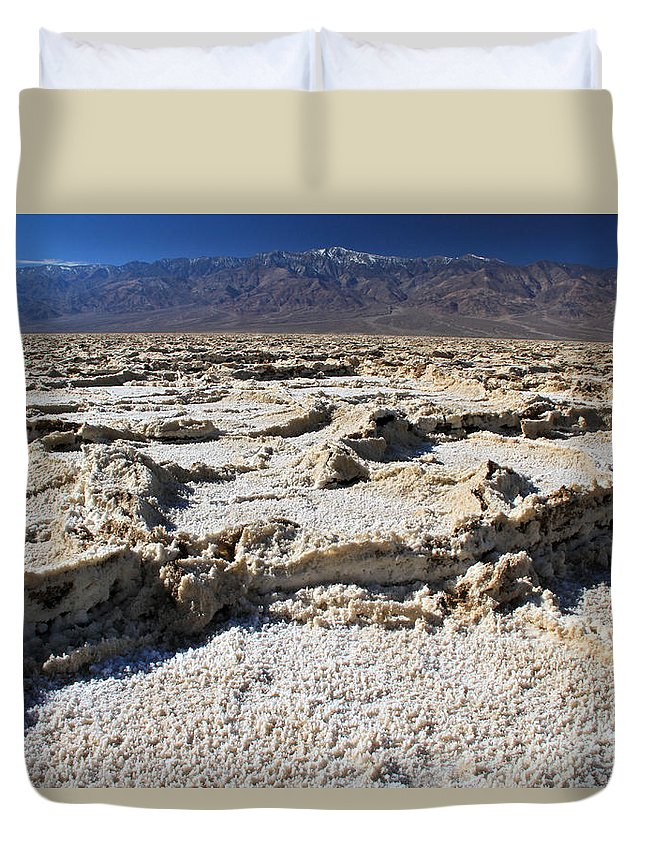California Duvet Cover featuring the photograph Badwater Telescope Peak Extremes  by Ed Riche