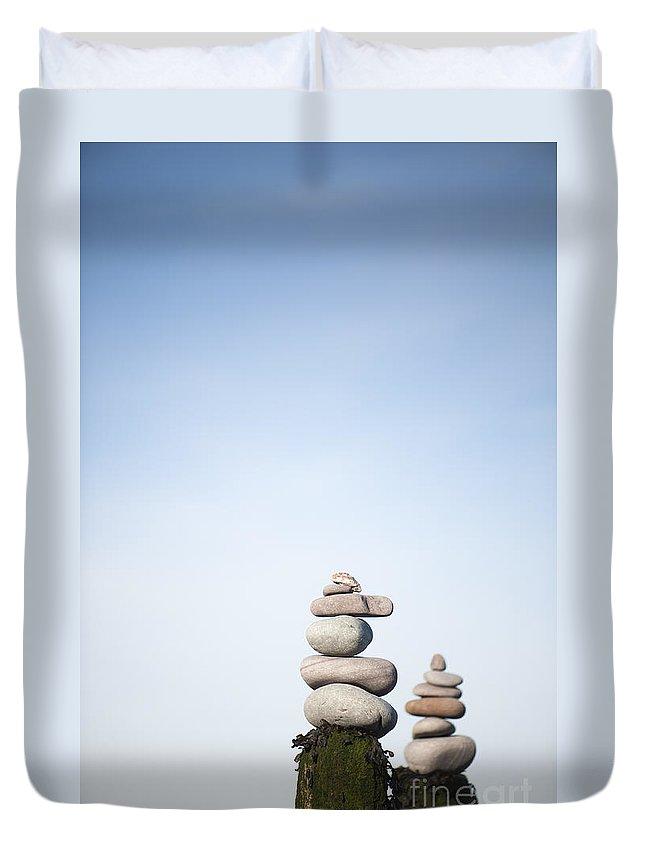 Art Duvet Cover featuring the photograph Balanced by Anne Gilbert