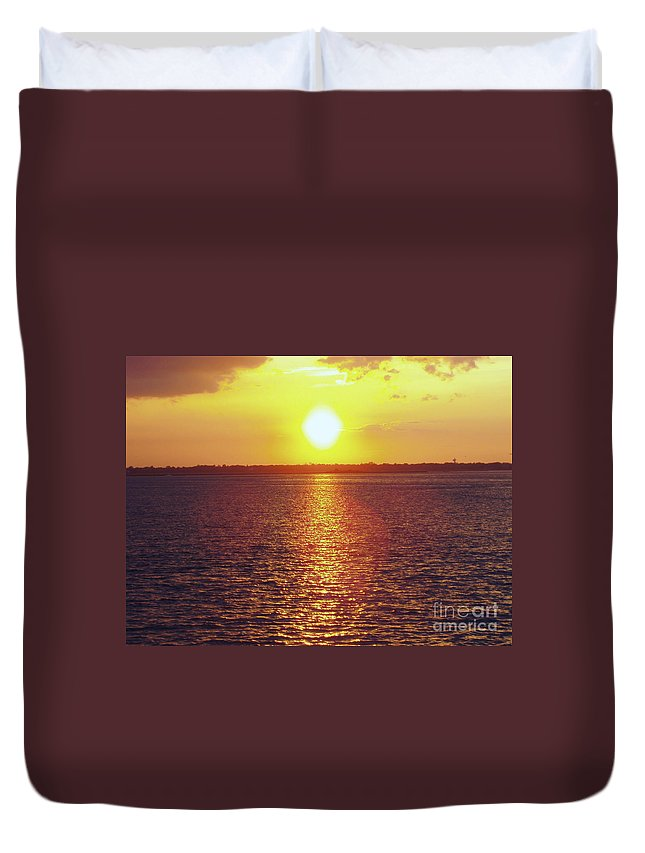 Ball Of Fire Duvet Cover featuring the photograph Ball Of Fire by John Telfer