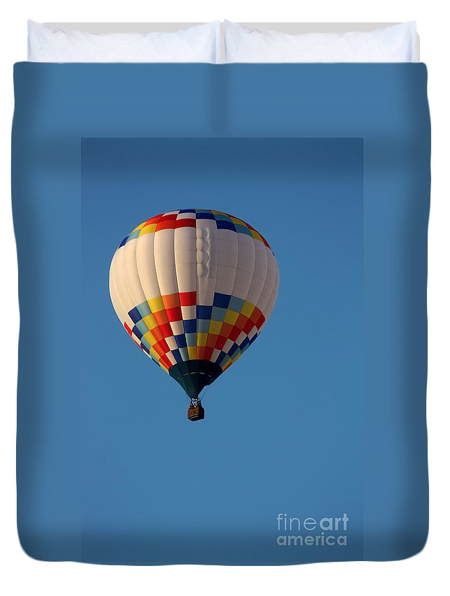 Hot Air Balloon Duvet Cover featuring the photograph Balloon-7033 by Gary Gingrich Galleries