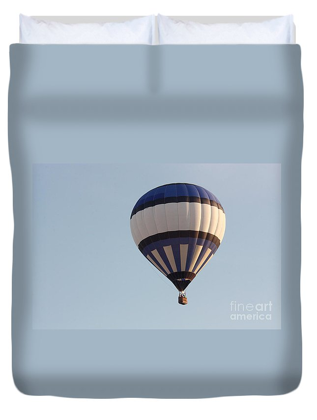 Hot Air Balloon Duvet Cover featuring the photograph Balloon-bwb-7399 by Gary Gingrich Galleries