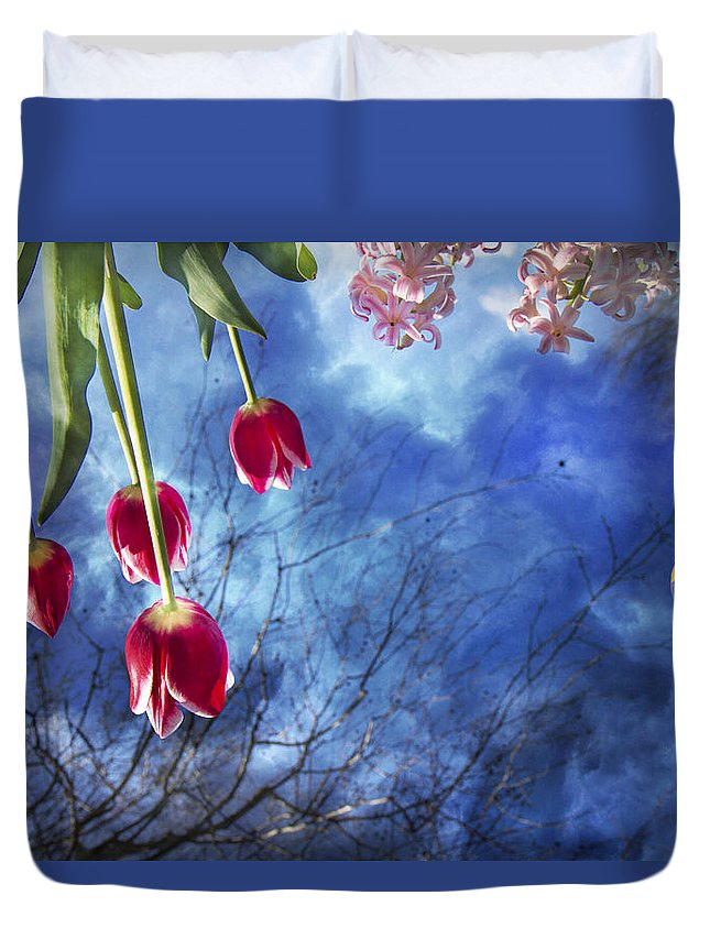 Hot Duvet Cover featuring the photograph Balloonist by Betsy Knapp