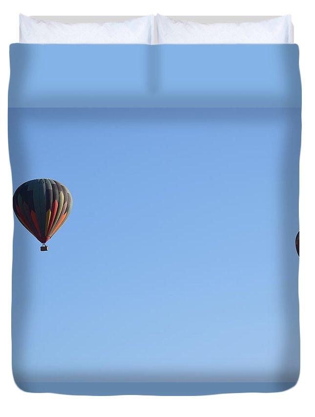 Lorimar Winery Duvet Cover featuring the photograph Balloons by Steve Scheunemann